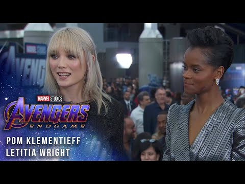 Letitia Wright and Pom Klementieff talk filming LIVE from the Avengers: Endgame Premiere
