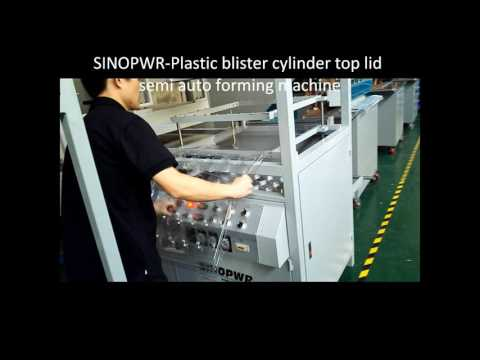 Semi-auto blister cylinder top lid forming machine