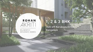 Rohan Akriti - 1km off Kanakapura Road, Bangalore. A Project by Rohan Builders.