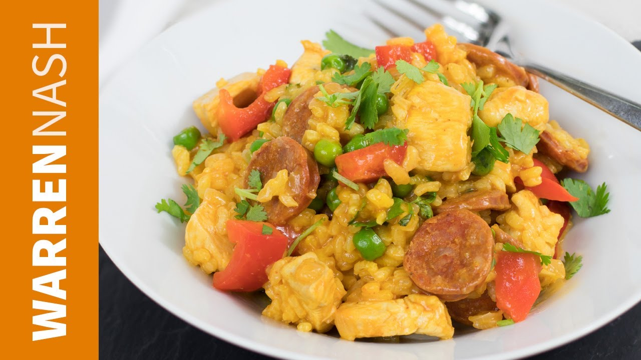 Chicken and chorizo paella recipe easy spanish food recipes by chicken and chorizo paella recipe easy spanish food recipes by warren nash forumfinder