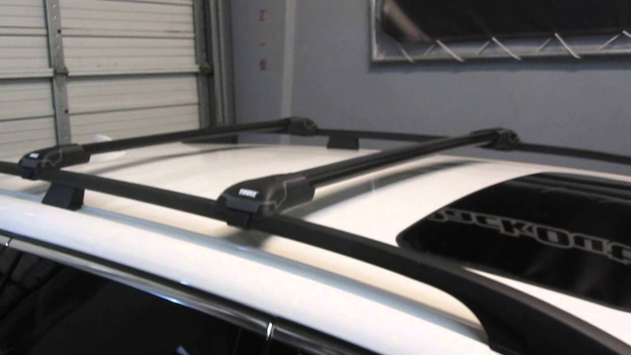 Volvo Xc70 With Thule Black Aeroblade Edge Roof Rack By