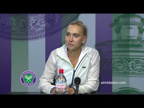 Elena Vesnina semi-final press conference