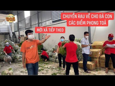 33 tấn rau được chuyển về 13 xã, thị trấn thuộc huyện Bình Chánh và các địa phương lân cận