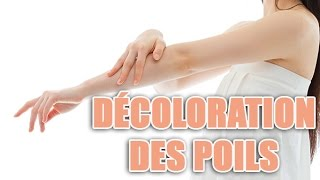 Tuto decoloration des poils de bras avec de la crème décolorante