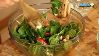 How To Make Spinach Salad With Strawberries And Goat Cheese