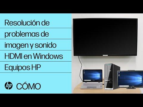 Resolución de problemas de imagen y sonido HDMI en Windows | Equipos HP | HP