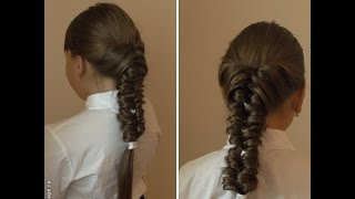 Коса с резиночками. Видео-урок.