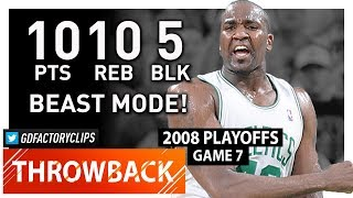 Prime Kendrick Perkins Game 7 Highlights vs Hawks (2008 Playoffs) - 10 Pts, 10 Reb, 5 Blocks!