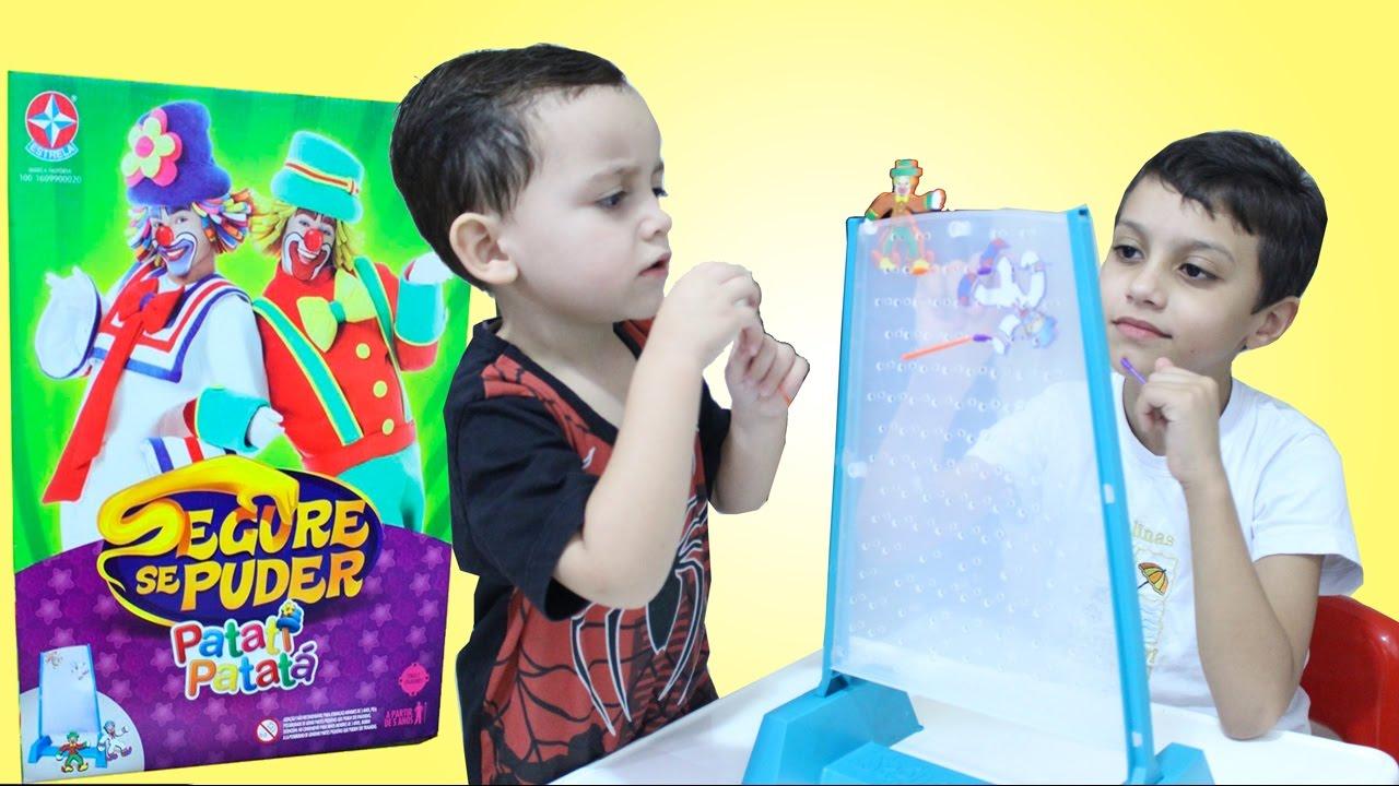 Patati Patatá Desafio Segure se Puder Brinquedos Infantil - Gustavo vs Rodrigo