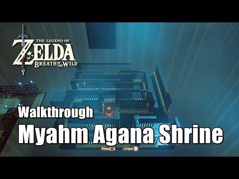 Zelda Breath of the Wild Myahm Agana Shrine Location Myahm Agana Apparatus Walkthrough
