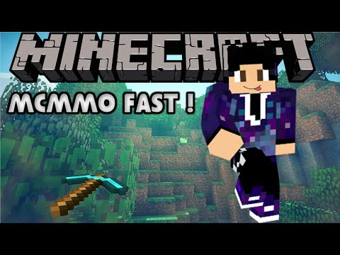 How To Get McMMO Mining Experience VERY FAST !! | Minecraft