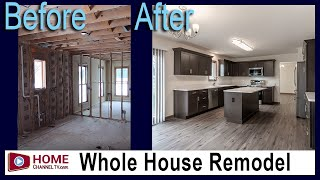 Before & After Whole House Renovation for Wounded Veteran - Project by KLM Builders & Remodelers