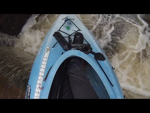 EPIC Kayak Accident caused by a HUGE Bass!!!