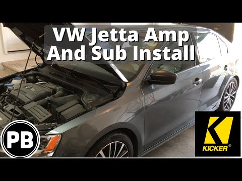 2011 - 2017 VW Jetta Sub and Amp install to Factory Radio