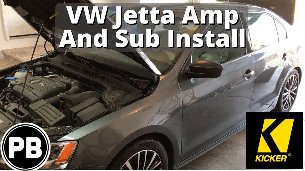 2011 2018 Vw Jetta Sub And Amp Install To Factory Radio Youtube