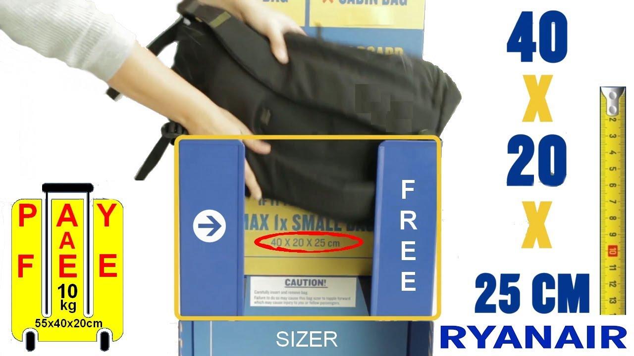 ryanair checked baggage allowance 2018