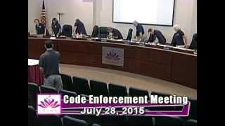 City of Ocoee Code Enforcement Meeting 7.28.2015 part 2