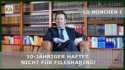 LG München I: 10-Jähriger haftet nicht für Filesharing! | Rechtsanwalt Dr. Knies