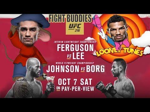 🔴 UFC 216 FERGUSON VS LEE  / JOHNSON VS BORG LIVE REACTION!!!