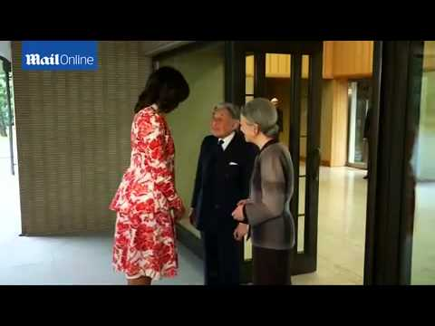 Michelle Obama meets Japan's Emperor and...