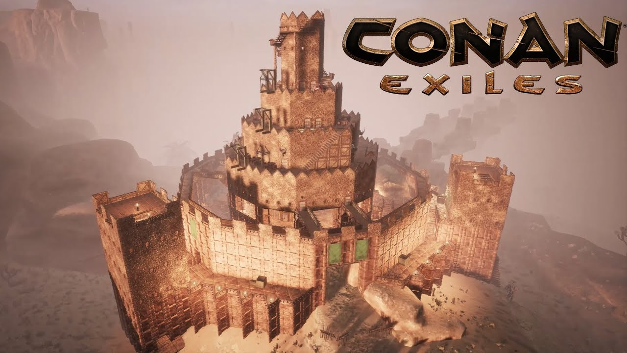 Conan Exiles  The Sand Castle Speed Build  YouTube