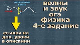 ФИЗИКА ОГЭ 4 задание разбор ВОЛНЫ и ЗВУК