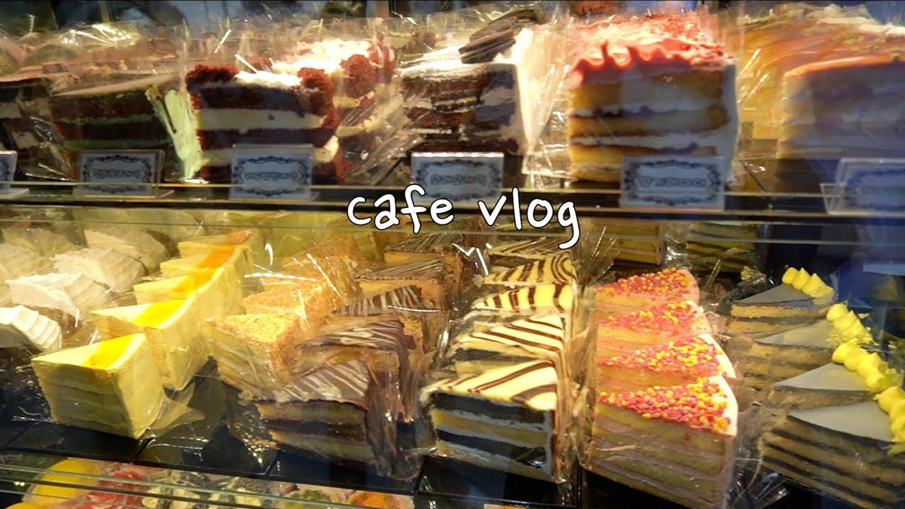 🔎수박주스를 몇잔이나 만드는지 맞춰보세요🍉오랜만에 커피 & 베이커리 쇼 놀러가기(•̀ᴗ•́)و ̑̑   Cafe Vlog