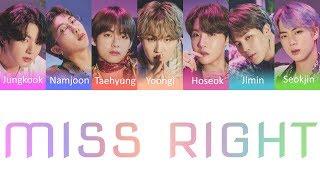 Download BTS (방탄소년단) - Miss Right Color Coded Lyrics