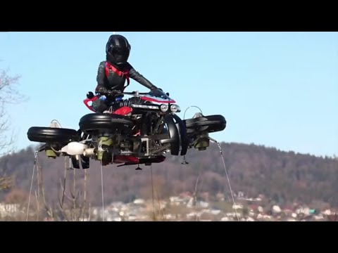 Lazareth demonstrates functional hoverbike