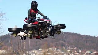 "Lazareth LMV 496 - Episode 2 - ""La Moto Volante"" - Flying Bike"