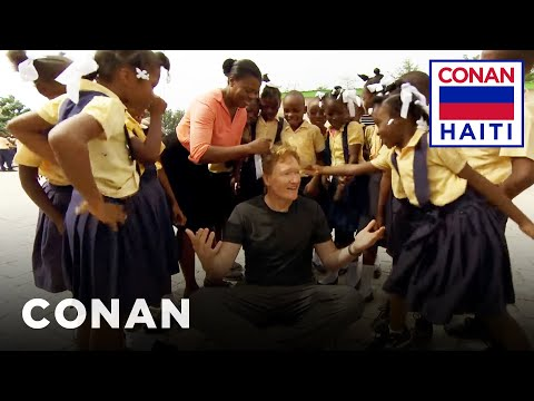 Conan Visits A Haitian Elementary School  - CONAN on TBS