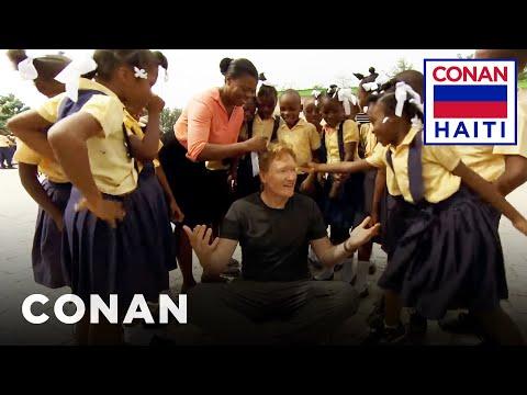 Conan Visits A Haitian Elementary School  - CONAN on TBS