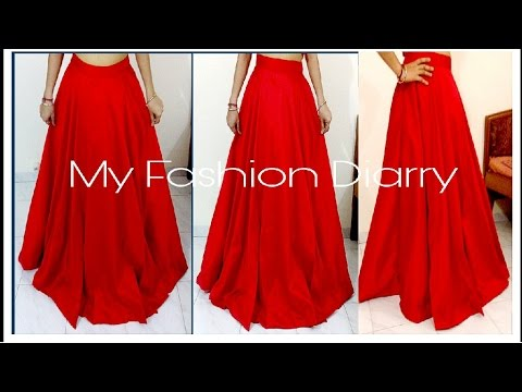 HOW TO MAKE UMBRELLA LEHNGA /SKIRT FOR CROP TOPS | DIY |