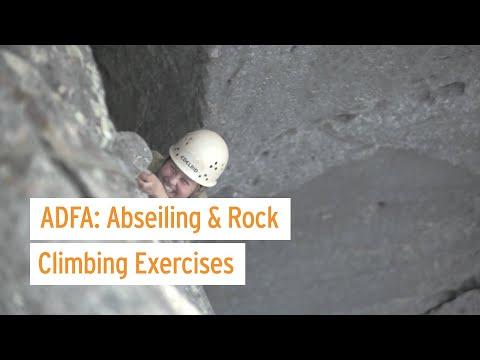 Abseiling & Rock Climbing Exercises at ADFA