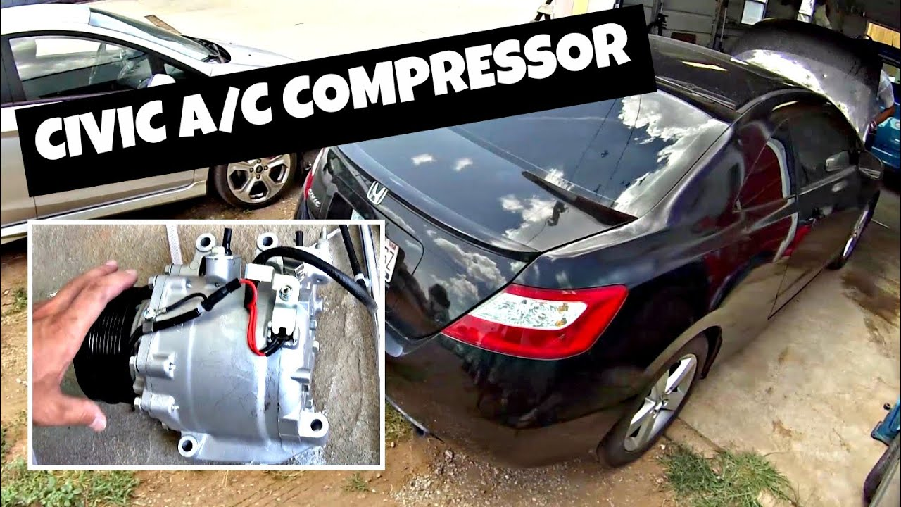 how to remove and replace a c compressor on honda civic 2006 2011 [ 1280 x 720 Pixel ]