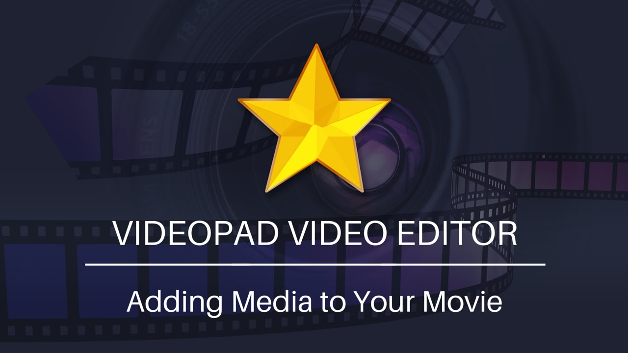 Add Video Audio And Image Files To Videopad
