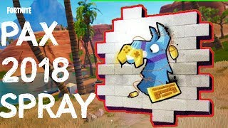 PAX West 2018 Fortnite Spray VERLOSUNG | FREE Pax Codes | How to get the Pax 2018 Fortnite Spray