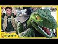 Raptor Blue Dinosaur Pretend Play! Jurassic World Fallen Kingdom Dinosaurs Ride On Toy Car Training