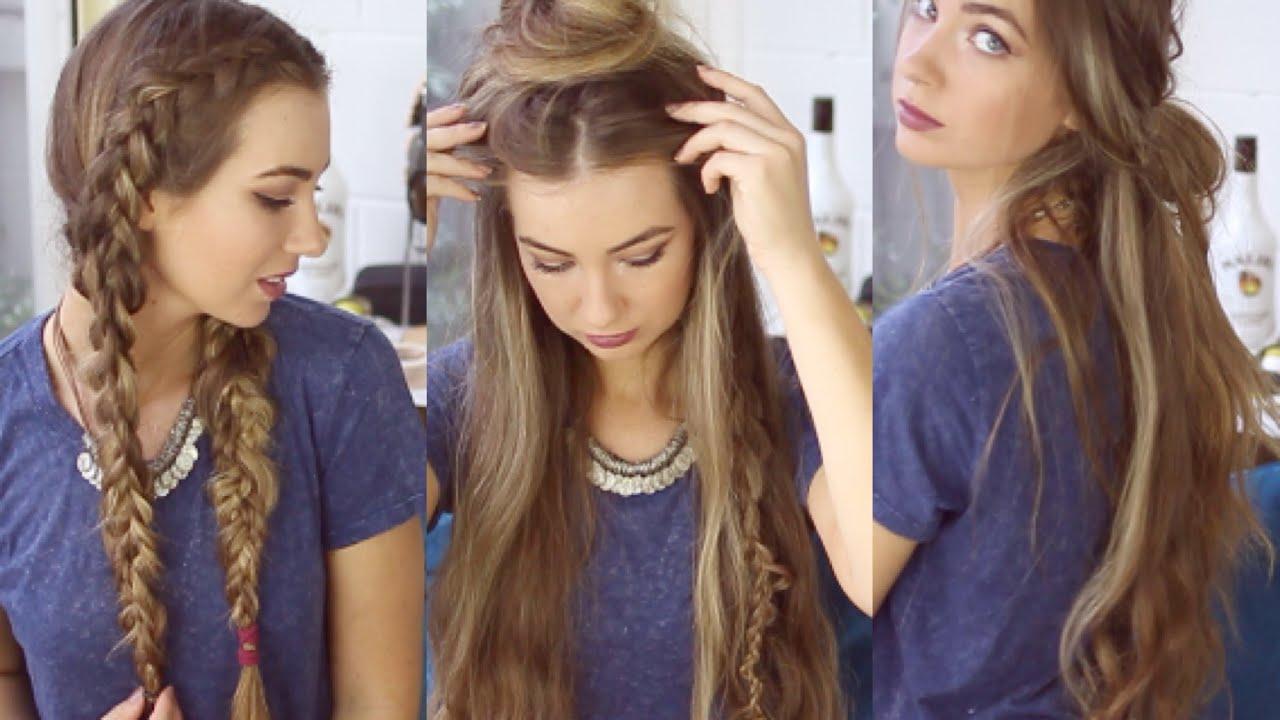 3 HAIRSTYLES NHANH VÀ DỄ DÀNG Kiểu tóc ngọt ngào không nóng