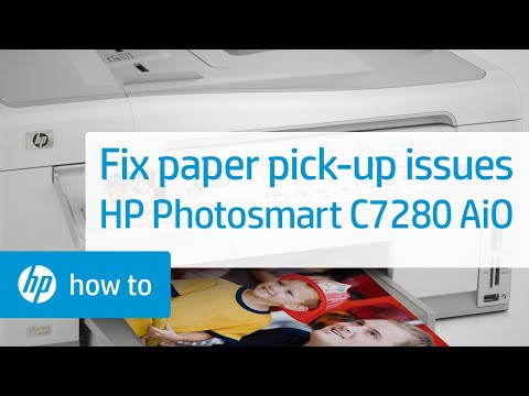 fixing paper pick up issues hp photosmart c7280 all in one printer rh youtube com HP Photosmart Printer Manual HP Photosmart 7550 Printer Manual