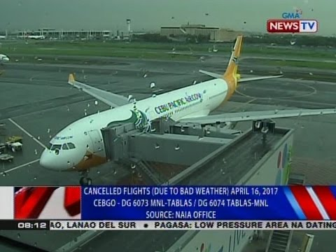 NTVL: Cancelled flights (due to bad weather) April 16, 2017