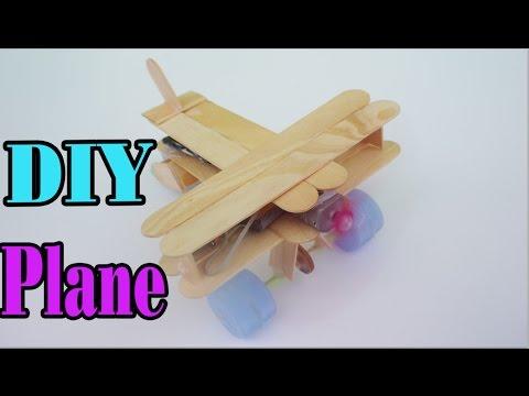 How to Make wood Airplane DIY - Powered plane Homemade Very Easy