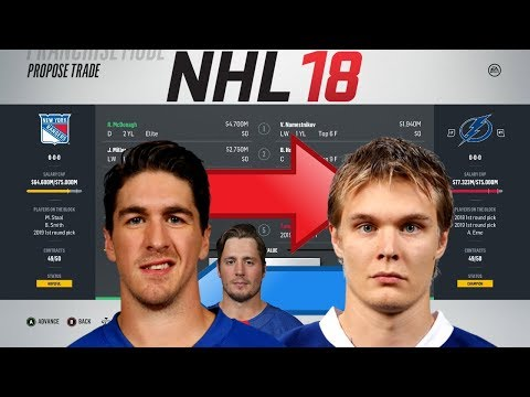 NHL 18 - MCDONAGH TO TAMPA BAY TRADE SIMULATION
