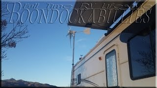 Full Time RV Living: 1000 Watts Wind Turbine Power! With 1200 Watt Solar Energy System