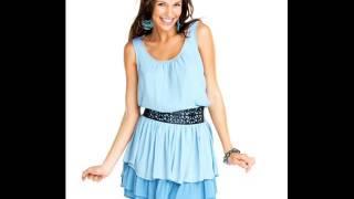 Летнее голубое платье