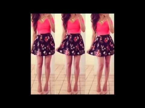 27c78cc091f ropa juvenil moda 2016   outfits faldas cortas - YouTube