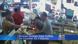 Woman Gets Violent In 7-Eleven Incident