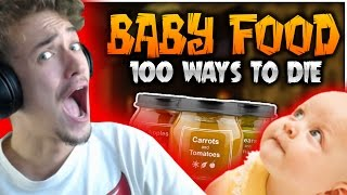 Minecraft: 100 Ways To Die | BABY FOOD CHALLENGE - #14