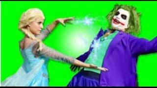 Человек паук против Джокера и Эльзы Человек паук спасатель в настоящей жизни