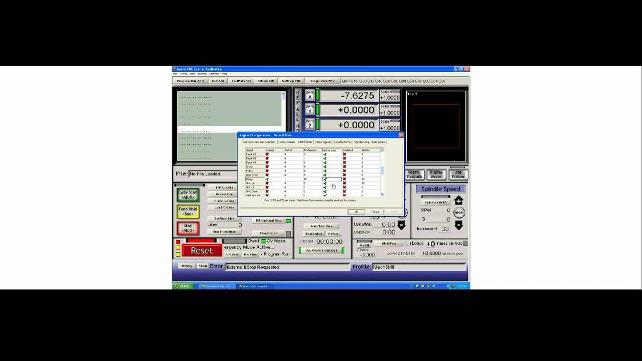mach3 cnc controller install configure [ 1280 x 720 Pixel ]